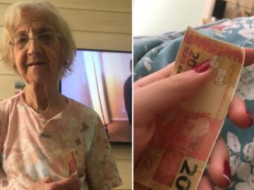 Avó com Alzheimer lembra da neta e lhe dá uma 'nota' de R$ 20,00 3
