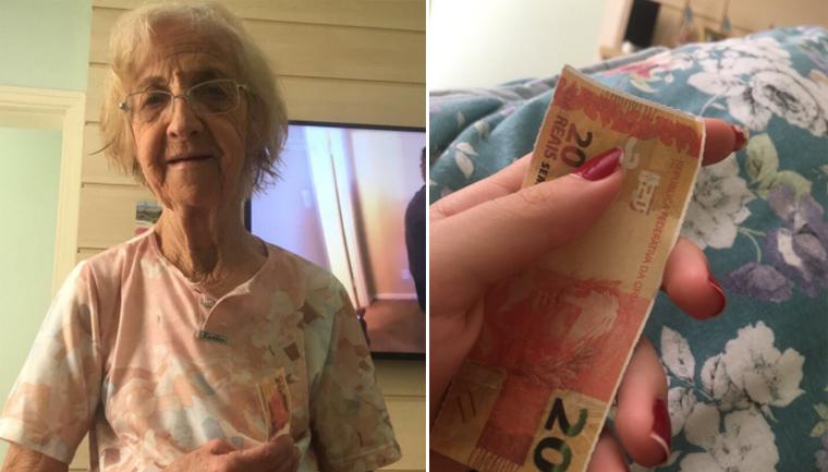 Avó com Alzheimer lembra da neta e lhe dá uma 'nota' de R$ 20,00 4