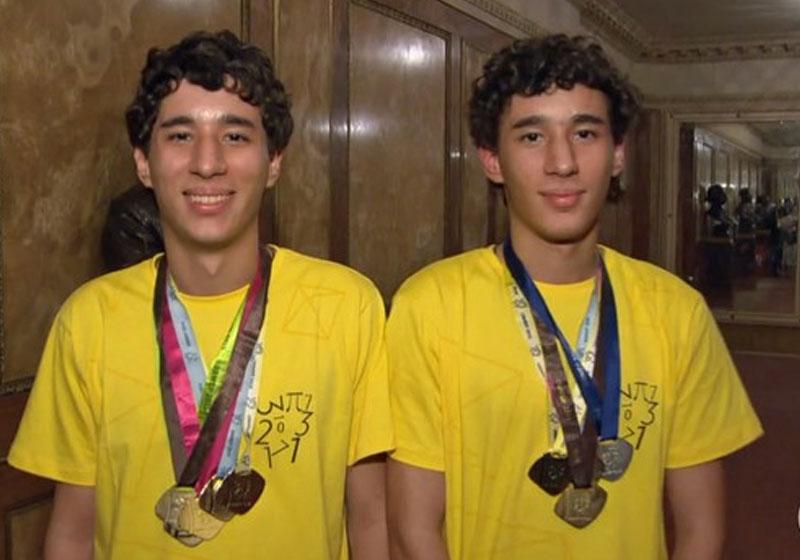 Gêmeos que já ganharam 62 medalhas de matemática ganham bolsa de estudo 3
