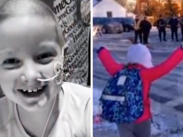 Depois de 15 meses no hospital, garotinha curada de câncer tem recepção calorosa na escola 8