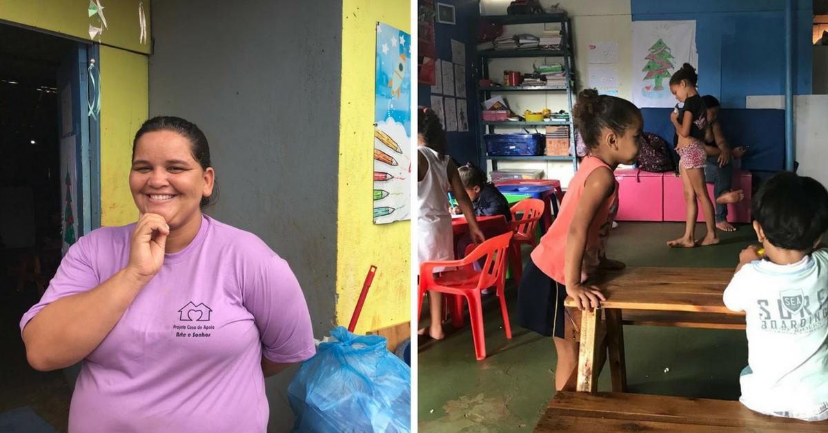 No DF, ex-catadora abre creche (grátis) para que outras catadoras deixem seus filhos 1