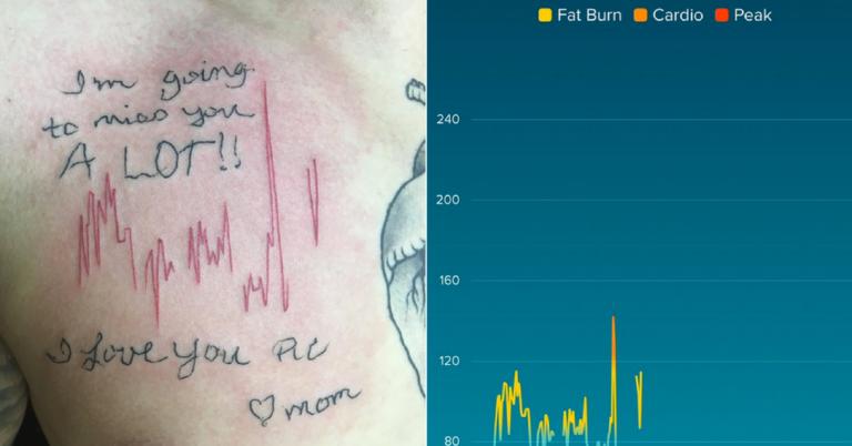 Filho faz linda homenagem em forma de tatuagem à mãe que morreu 1