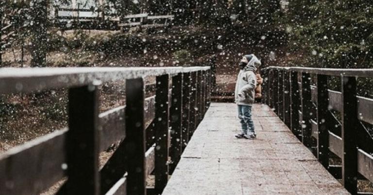 A felicidade deste garoto ao ver a neve pela primeira vez está nos enchendo de amor 1