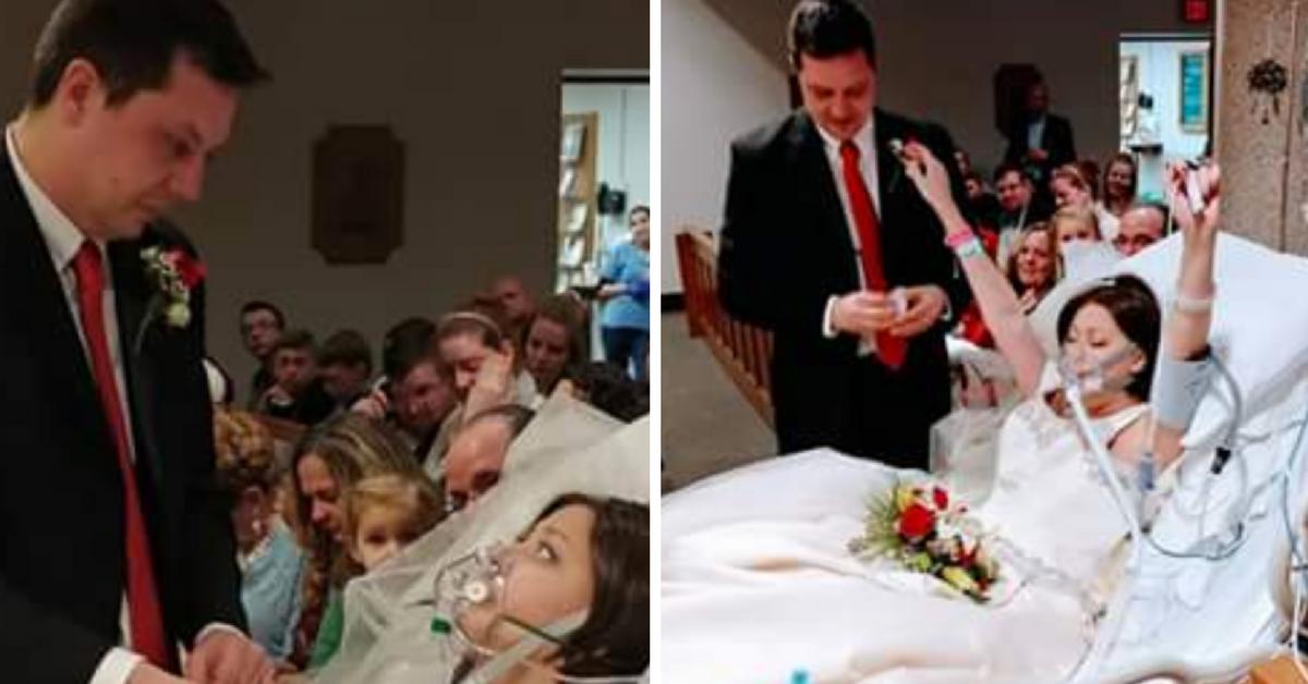 Mulher com câncer em estágio terminal casa com o amor de sua vida e morre 24 horas depois 2