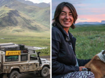 Este casal inspirador viaja o mundo em um carro ajudando cachorros abandonados 1