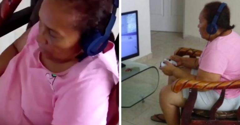 Neto dá videogame para avó sem imaginar que ela ficaria viciada 1