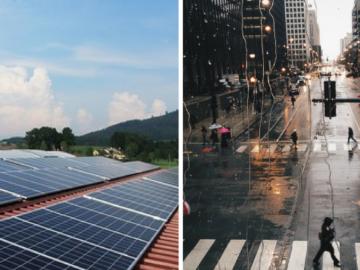 Cientistas chineses criam painel solar que gera energia a partir da chuva 2