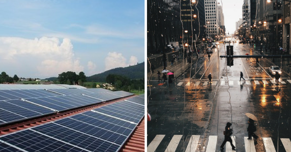 Cientistas chineses criam painel solar que gera energia a partir da chuva 1
