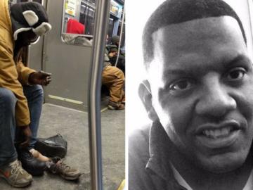 Esse homem doou as botas que usava para sem teto que passava frio no metrô 9