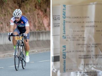 Em Minas, ciclista encontra conta e dinheiro em estrada, paga e entrega o troco 2