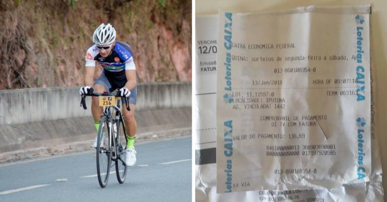 Em Minas, ciclista encontra conta e dinheiro em estrada, paga e entrega o troco 1