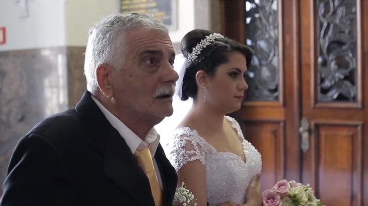 Pai supera sequelas de AVC e leva filha até o altar 2