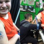 """Após vários """"nãos"""", rapaz com autismo faz a tão sonhada tatuagem 2"""