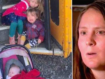 Mulher encontra família desabrigada vivendo em ônibus quebrado e resolve ajudar 3
