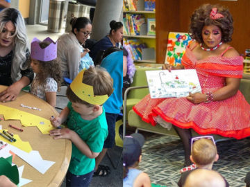 Drag queens leem para crianças em biblioteca de Nova York e ensinam sobre diversidade 1