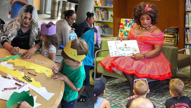 Drag queens leem para crianças em biblioteca de Nova York e ensinam sobre diversidade 2