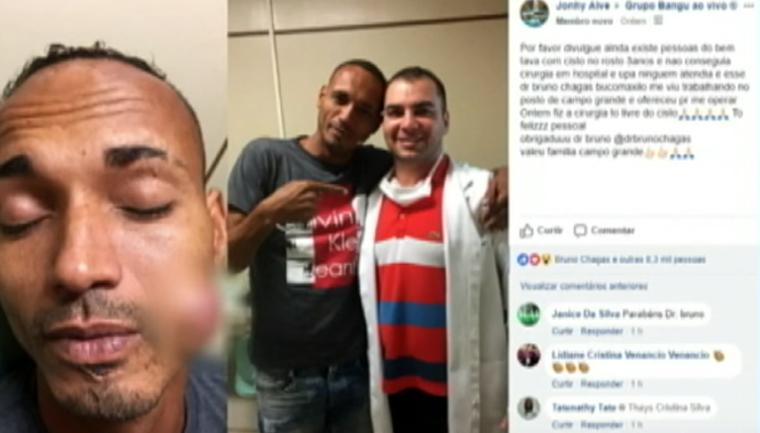Dentista opera tumor de frentista e ação viraliza nas redes sociais 1