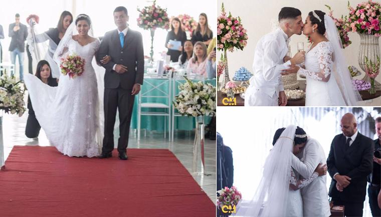 Corrente do bem realiza casamento de jovem que lutava contra leucemia 1