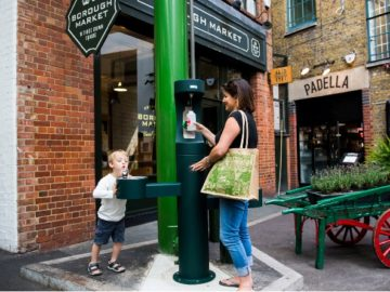 Fontes e bebedouros serão instalados em Londres para estimular pessoas a não comprarem garrafas plásticas 4
