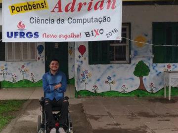 Jovem paraplégico e morador de abrigo passa no vestibular da UFRGS 4