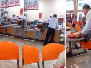 [VÍDEO] Homem paga refeição para idoso e atitude emociona internautas 3