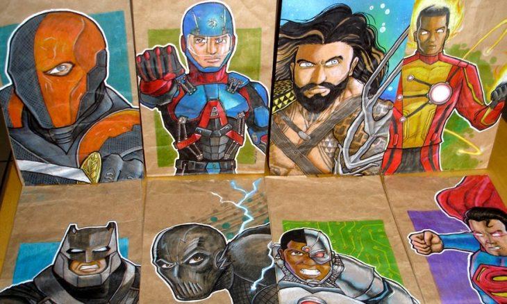 Artista transforma embalagens de lanche escolar do filho em verdadeiras obras de arte 2