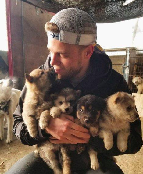 Esquiador e namorado resgatam 90 cães que viviam em fazenda de abate na Coréia do Sul 1