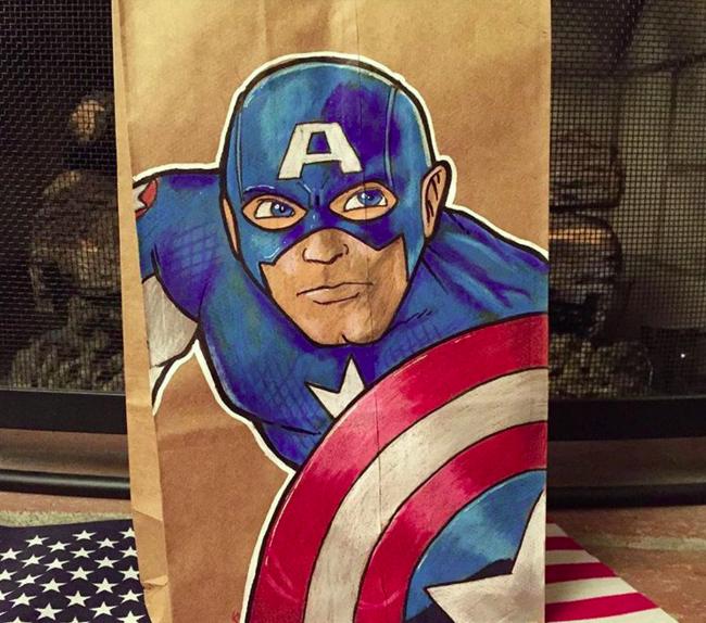 Artista transforma embalagens de lanche escolar do filho em verdadeiras obras de arte 6