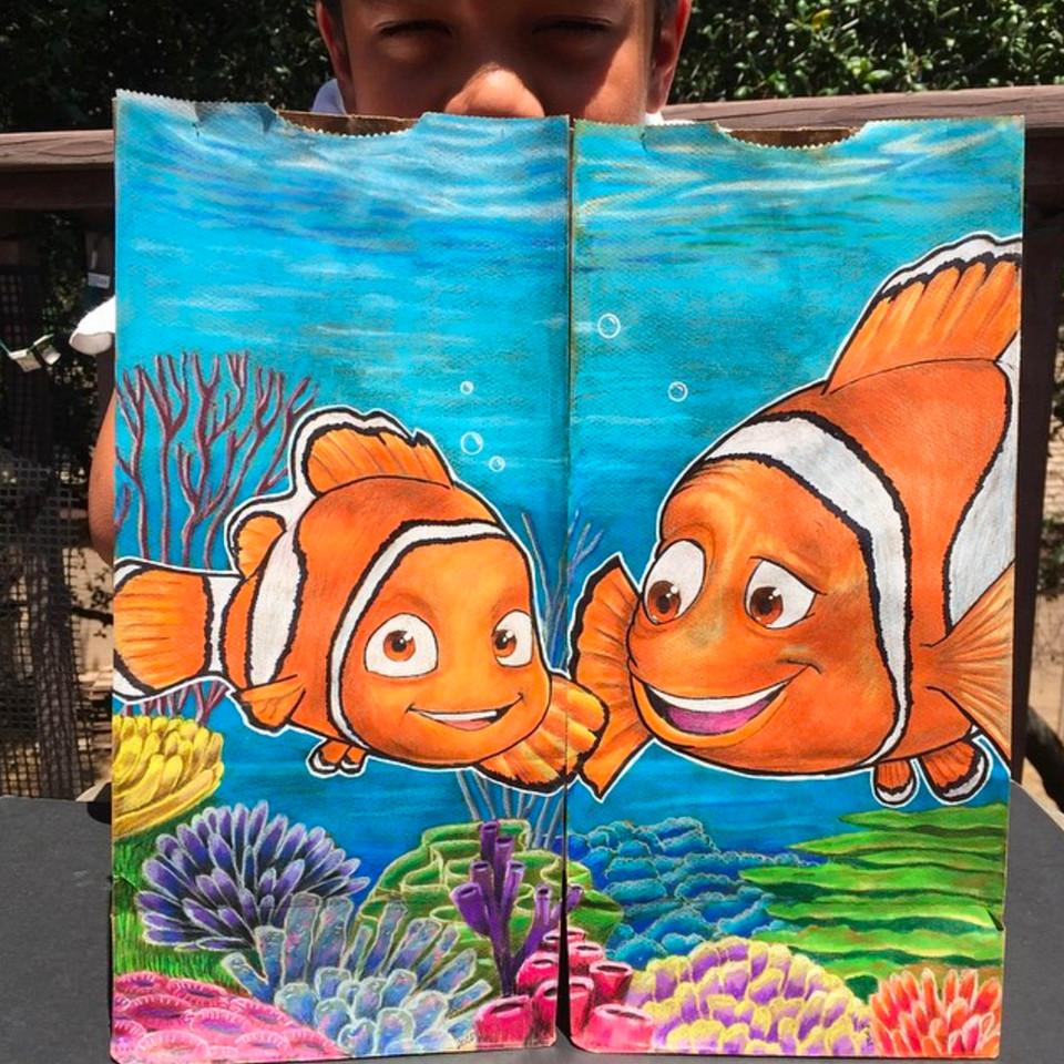 Artista transforma embalagens de lanche escolar do filho em verdadeiras obras de arte 8