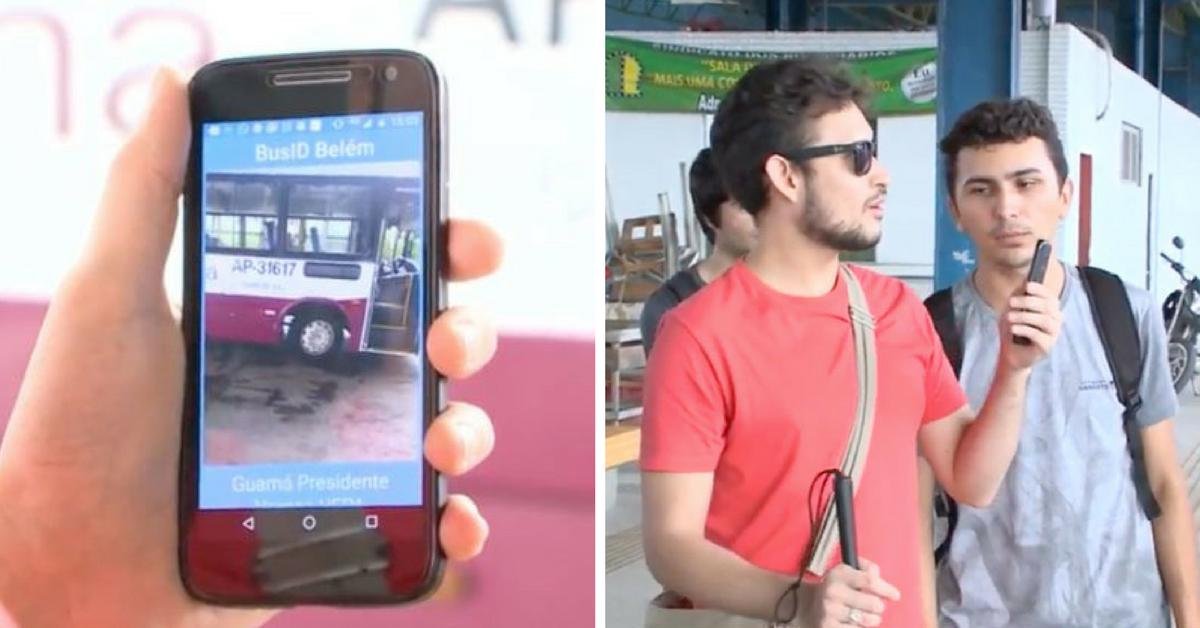 Universitários do Pará desenvolvem app que ajuda cegos a saberem que ônibus pegar 1