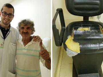 Em SP, paciente da Santa Casa conserta as cadeiras da instituição em gesto generoso 1