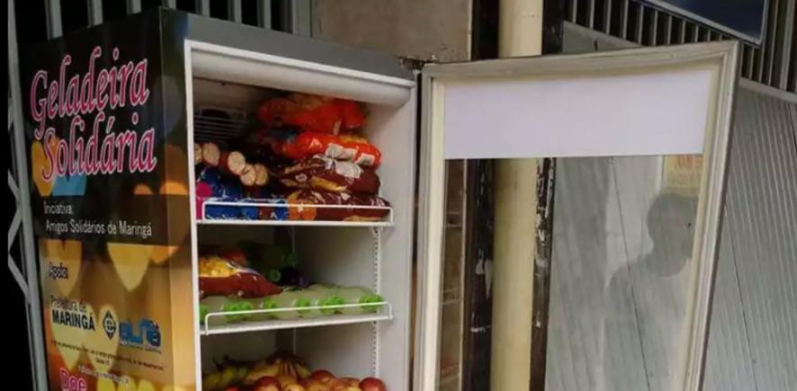 """'Geladeira Solidária"""" alimenta quem mais precisa em Maringá (PR) 4"""