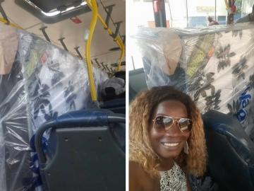 No RJ, casal compra cama box e entra no ônibus com colchão e tudo 14