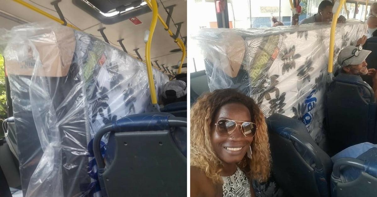 No RJ, casal compra cama box e entra no ônibus com colchão e tudo 1