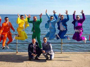 casamento gay amigo arco-íris