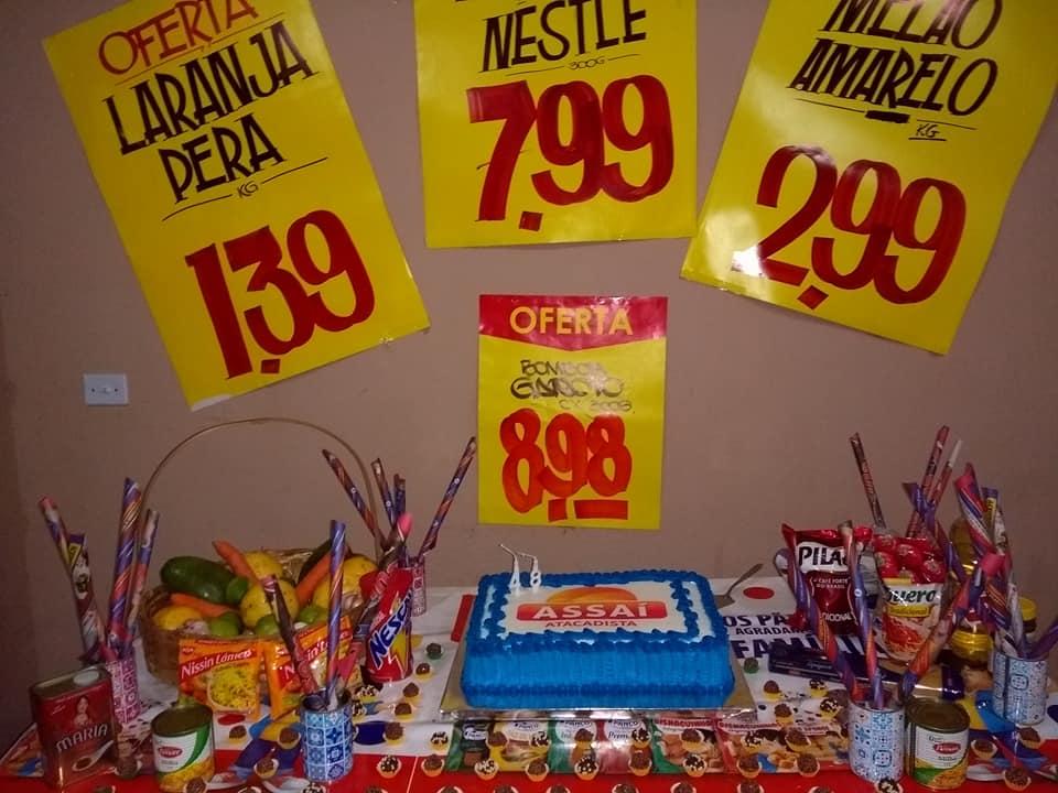 festa surpresa tema supermercado