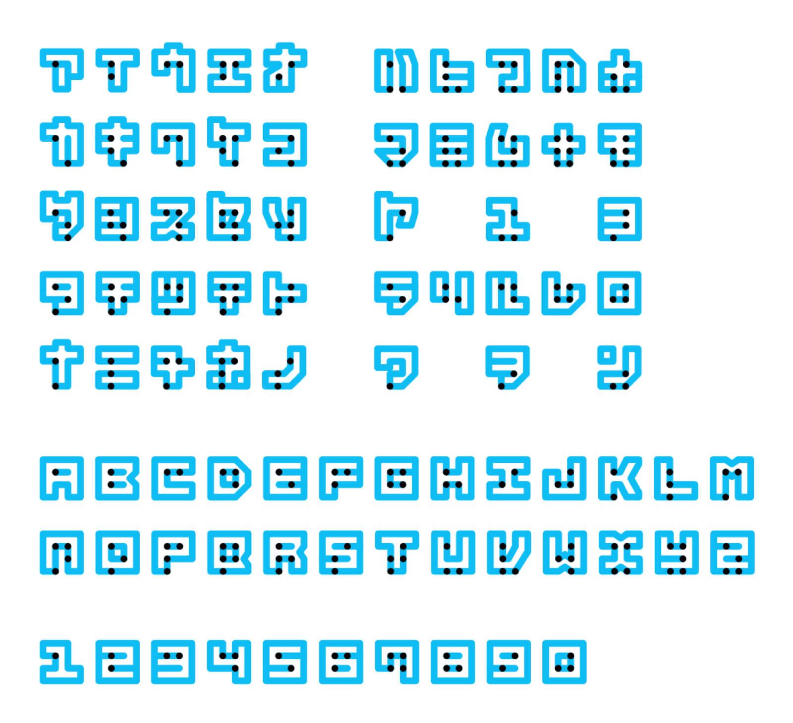 Designer japonês cria fonte que une a escrita Braille com a tradicional 3