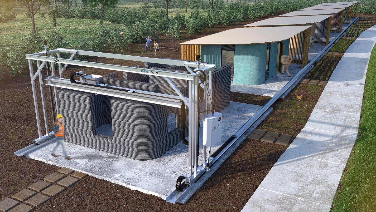 Um bairro inteiro com casas impressas em 3D será construído para famílias carentes 5