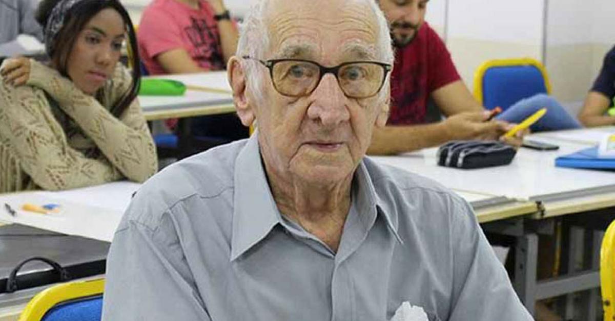 Aos 90 anos senhor realiza sonho antigo e começa faculdade de Arquitetura em Ribeirão Preto 2