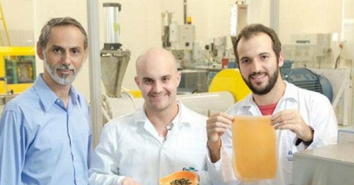 pesquisadores plástico orgânico