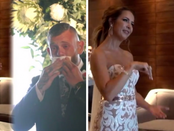 Noiva faz homenagem emocionante e canta em Libras para seu noivo no casamento 5