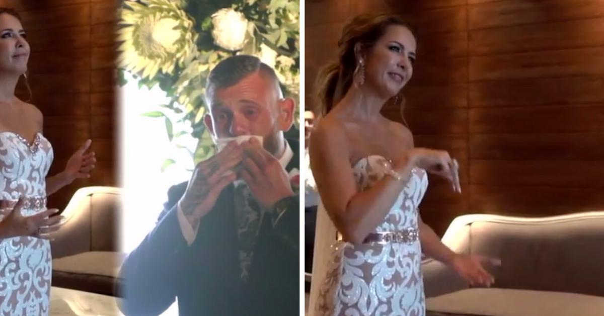 Noiva faz homenagem emocionante e canta em Libras para seu noivo no casamento 3