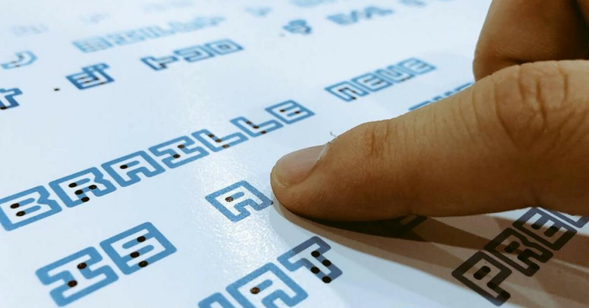 Designer japonês cria fonte que une a escrita Braille com a tradicional 1