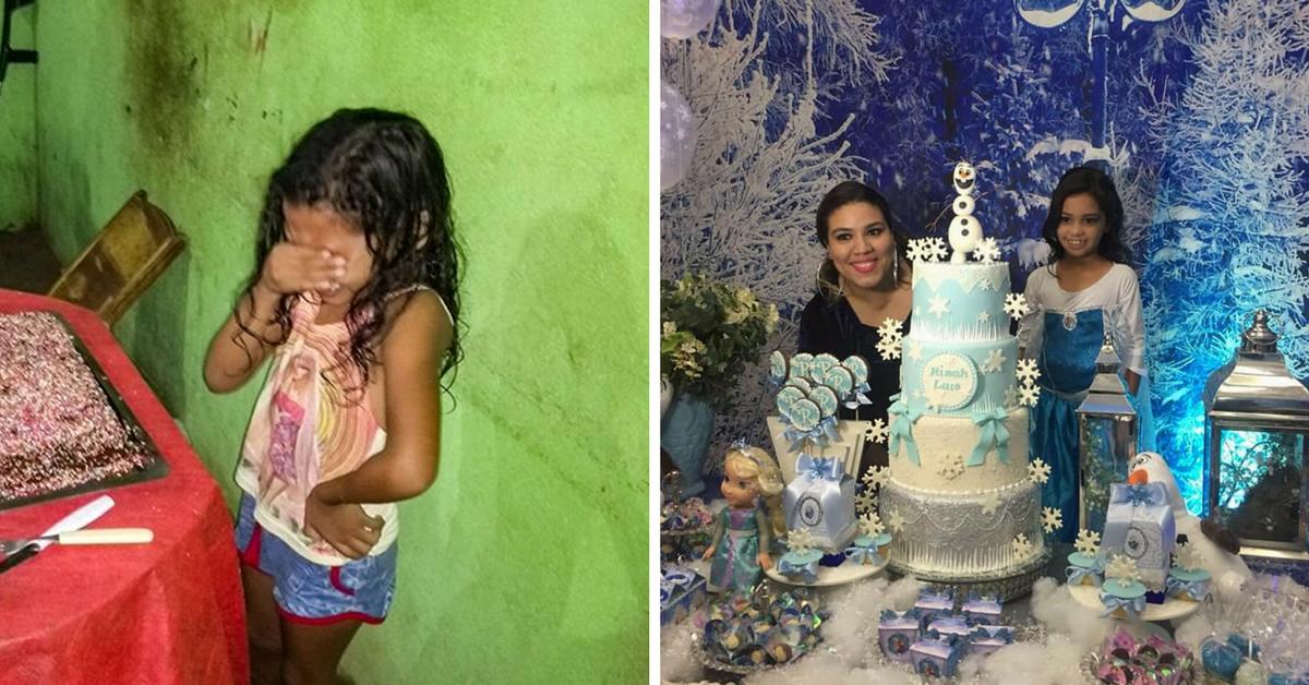 Garotinha que chorou no aniversário ganha festa dos sonhos e se emociona novamente 1