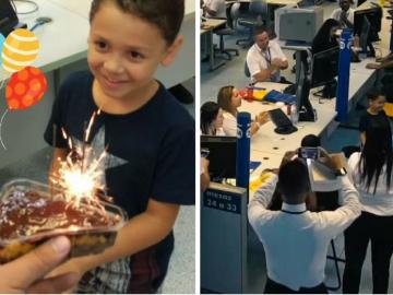 Em SP, funcionários do Poupatempo surpreendem garoto com bolo e parabéns 1