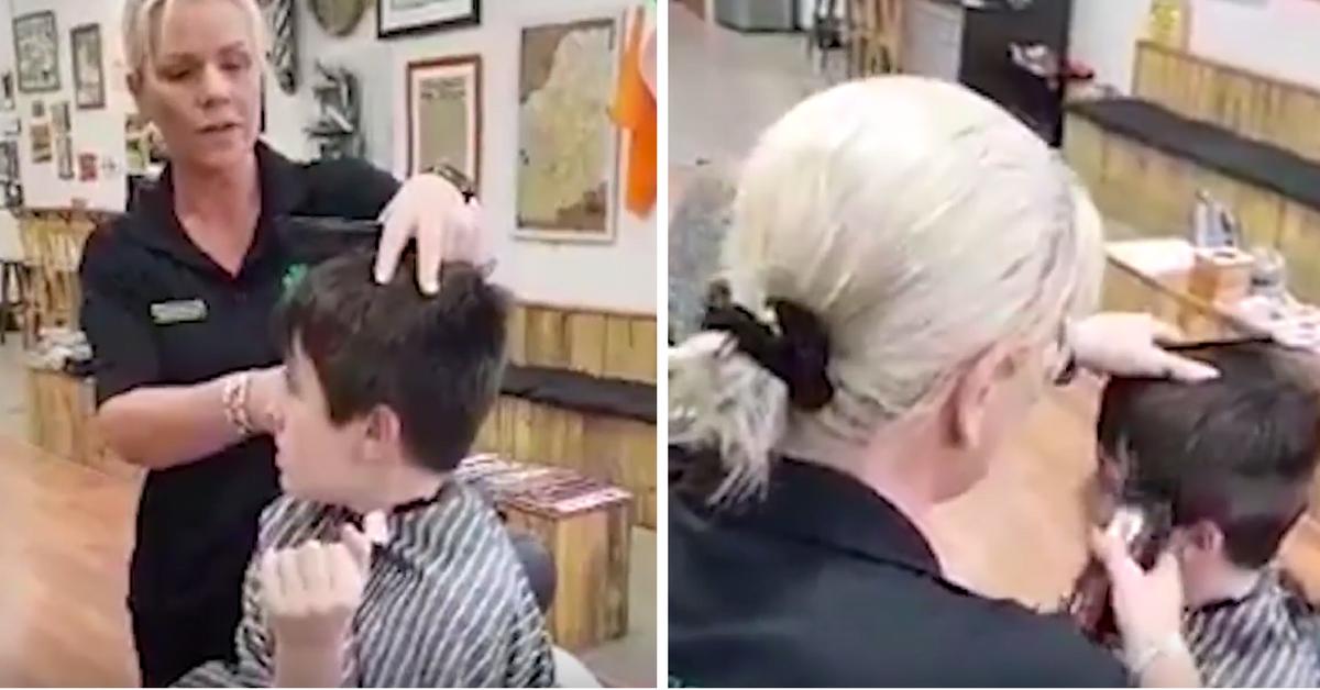 cabeleireira consegue cortar cabelo