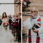 Noiva se emociona ao ser conduzida por pai e ter a cerimônia realizada por padrasto 1