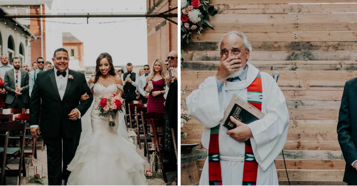 Noiva se emociona ao ser conduzida por pai e ter a cerimônia realizada por padrasto 11