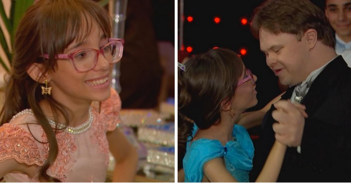 Garota com hidrocefalia realiza o sonho da festa de debutante e dança com seu melhor amigo com Down 1