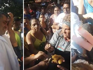 Moradores compram coxinhas e suco de vendedor para fiscalização não apreender 1